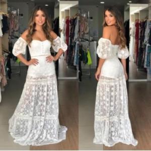 Vestido longo tela bor 437988