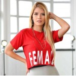 T-shirt Croped Female
