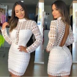 Vestido branco mang  417393